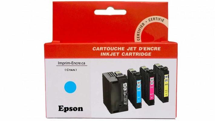 Encre Epson T252XL220 cyan compatible de très haute qualité - 1,100 pages