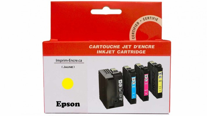 Encre Epson T252XL420 jaune compatible de très haute qualité - 1,100 pages