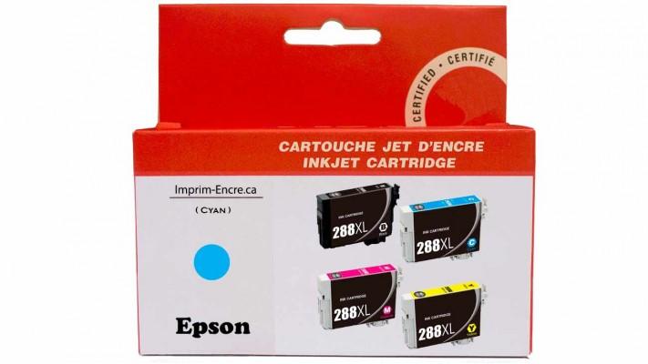 Encre Epson T288XL220 cyan compatible de très haute qualité - 450 pages