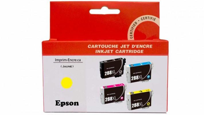 Encre Epson T288XL420 jaune compatible de très haute qualité - 450 pages