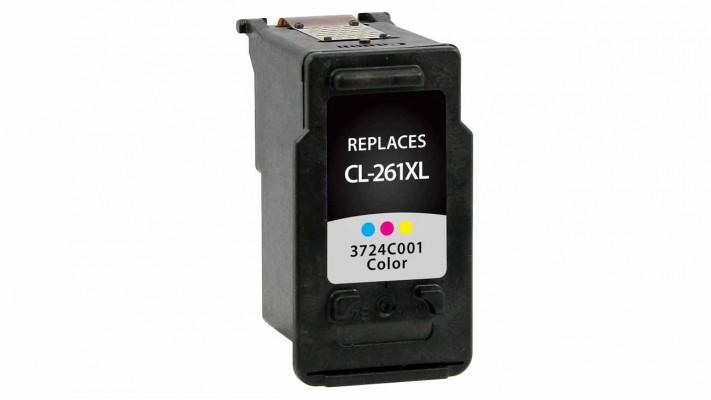 Encre Canon CL-261XL couleur originale ( OEM ) remise à neuf de très haute qualité - 300 pages