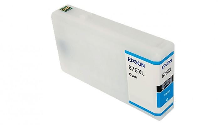 Encre Epson T676XL220 ( 676XL ) cyan originale ( OEM ) remise à neuf de très haute qualité - 1,200 pages