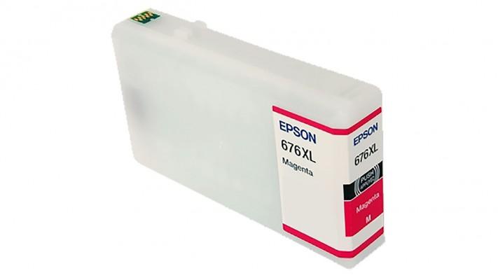 Encre Epson T676XL320 ( 676XL ) magenta originale ( OEM ) remise à neuf de très haute qualité - 1,200 pages