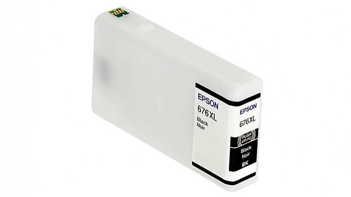 Encre Epson T676XL120 ( 676XL ) noire originale ( OEM ) remise à neuf de très haute qualité - 2,400 pages