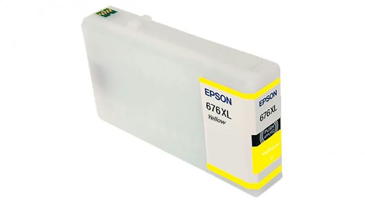 Encre Epson T676XL420 ( 676XL ) jaune originale ( OEM ) remise à neuf de très haute qualité - 1,200 pages