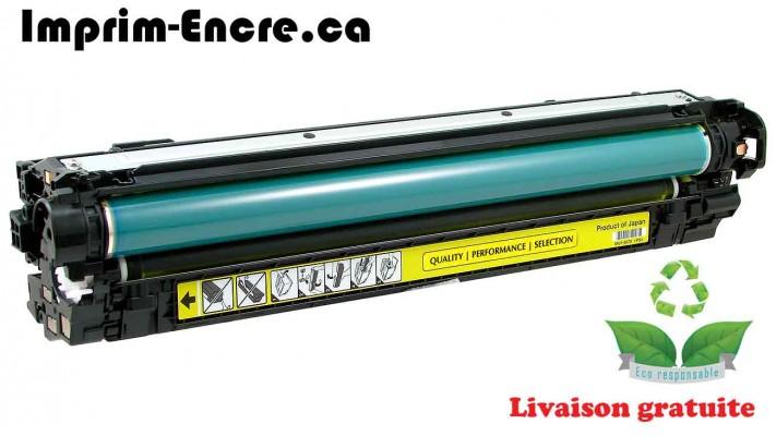 HP toner CE272A ( 650A ) jaune originale ( OEM ) remise à neuf de très haute qualité - 15,000 pages