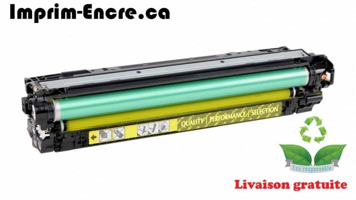 HP toner CE342A ( 651A ) jaune originale ( OEM ) remise à neuf de très haute qualité - 16,000 pages