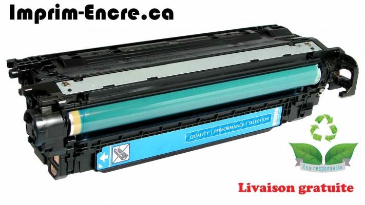 HP toner CE401A ( 507A ) cyan originale ( OEM ) remise à neuf de très haute qualité - 6,000 pages