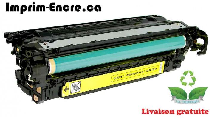 HP toner CE402A ( 507A ) jaune originale ( OEM ) remise à neuf de très haute qualité - 6,000 pages