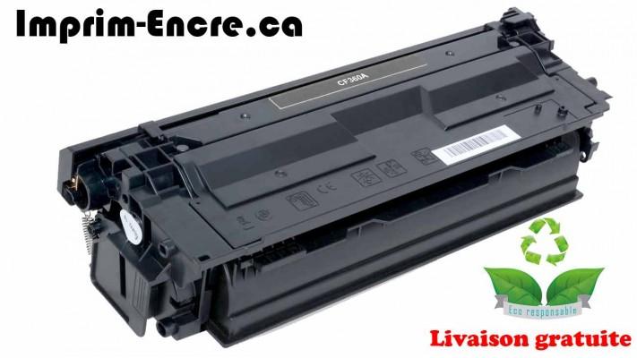 HP toner CF360A ( 508A ) noire originale ( OEM ) remise à neuf de très haute qualité - 6,000 pages
