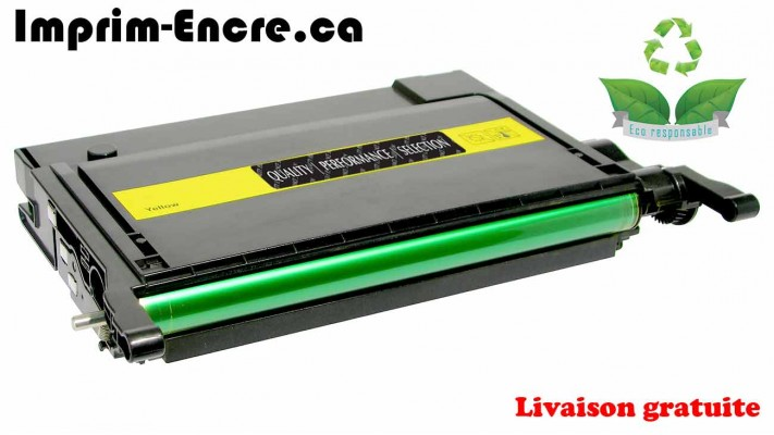 Samsung toner CLP-Y660B / CLP-Y660A jaune originale ( OEM ) remise à neuf de très haute qualité - 5,000 pages